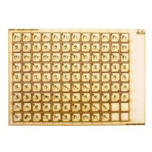 108 Wooden Scrabble Tiles with Fingerspelling Pictograms